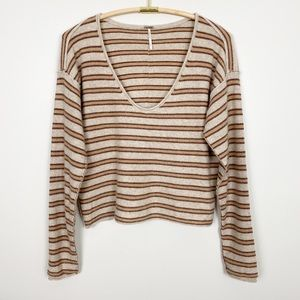 FREE PEOPLE Forever Striped Cashmere Sweater S